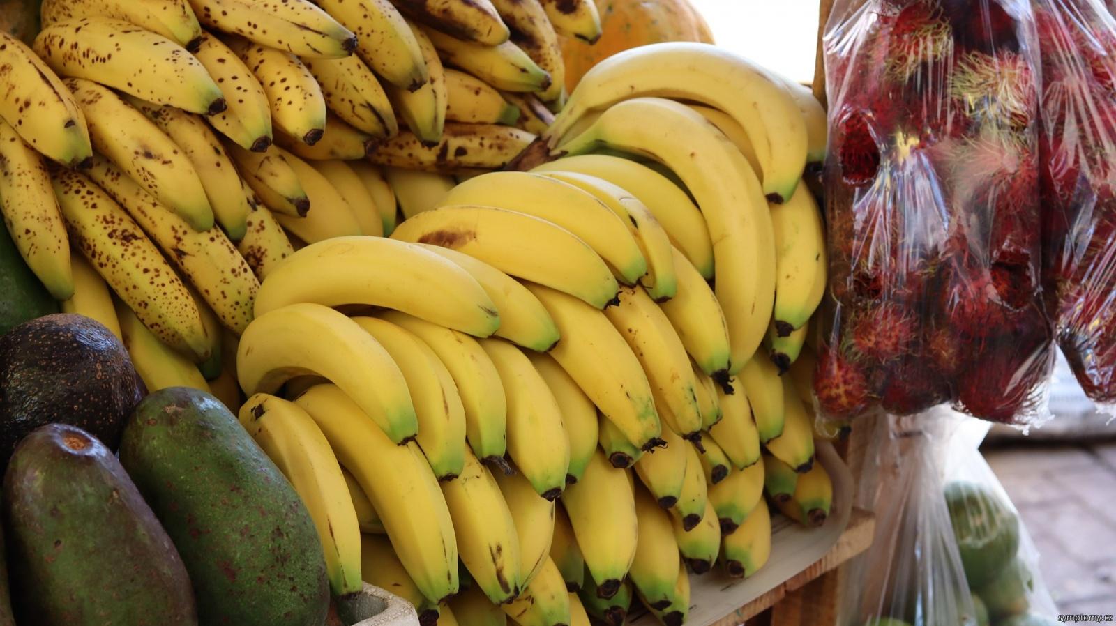 obsah draslíku v banánech