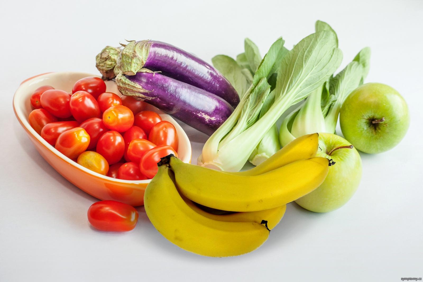 zelenina a ovoce na doplnění draslíku