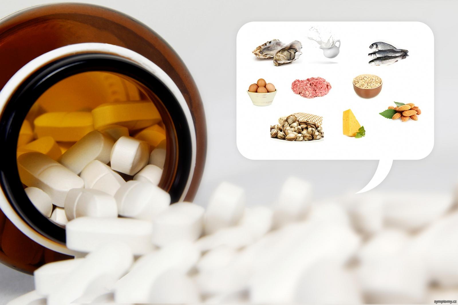 pilulky vitamínu B12 (kobalamin)