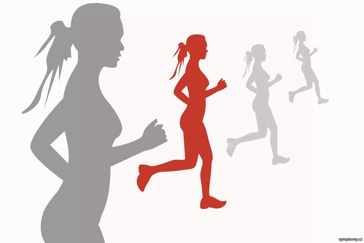 Natažený sval při běhu