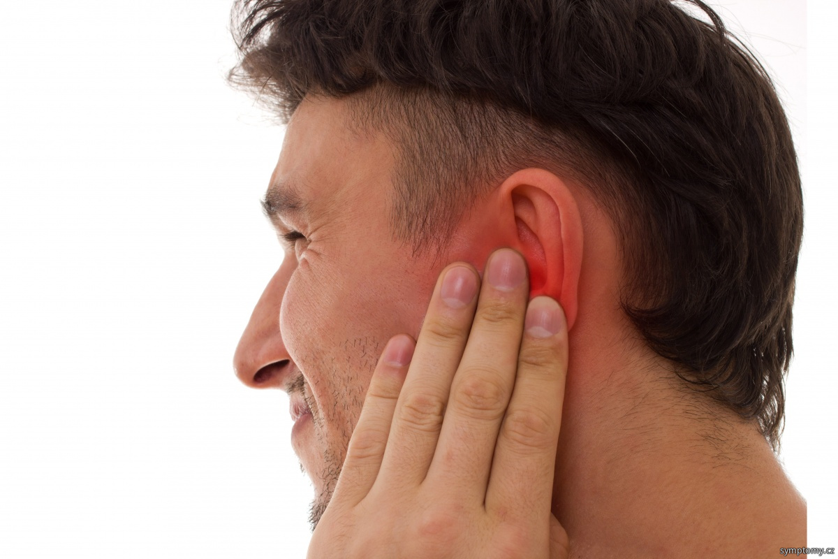 bolest hlavy za uchem