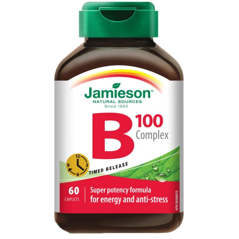JAMIESON B-komplex 100 mg s postupným uvolňováním 60 tablet