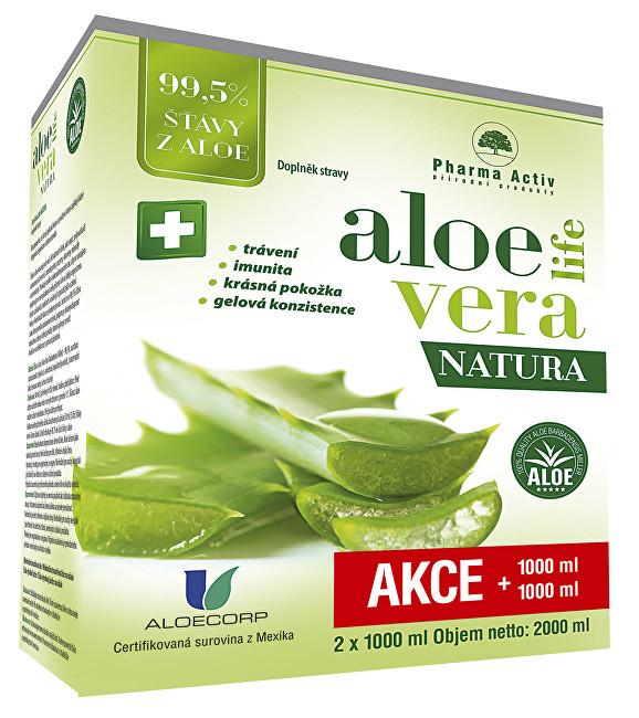 Pharma Activ Aloeveralife natura 1000 ml + 1000 ml - SLEVA - poškozená krabička