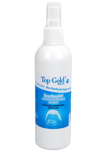 Chemek TopGold - deodorační antimikrobiální sprej do obuvi 150 g