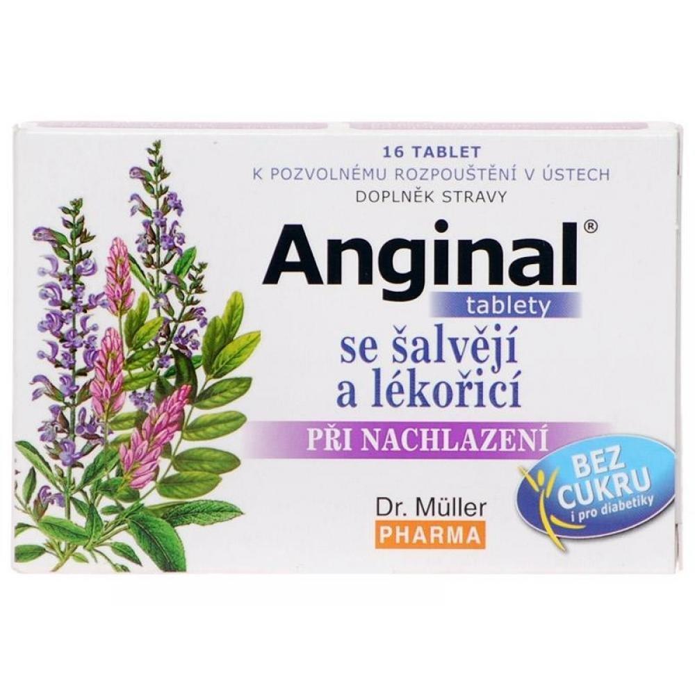 DR. MÜLLER Anginal tablety se šalvějí + lékořicí 16 tablet