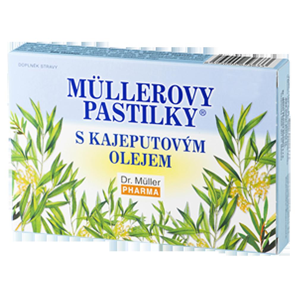 DR. MÜLLER Müllerovy pastilky s kajeputovým olejem 12 pastilek