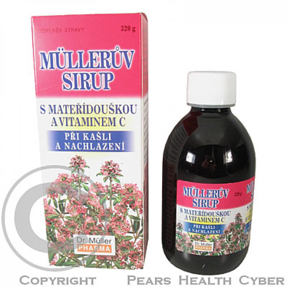DR.MULLER Mullerův sirup mateřídouš + vitamin C 320 g