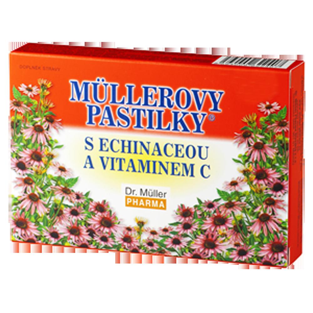 DR. MÜLLER Müllerovy pastilky s echinaceou a vitaminem C 24 pastilek