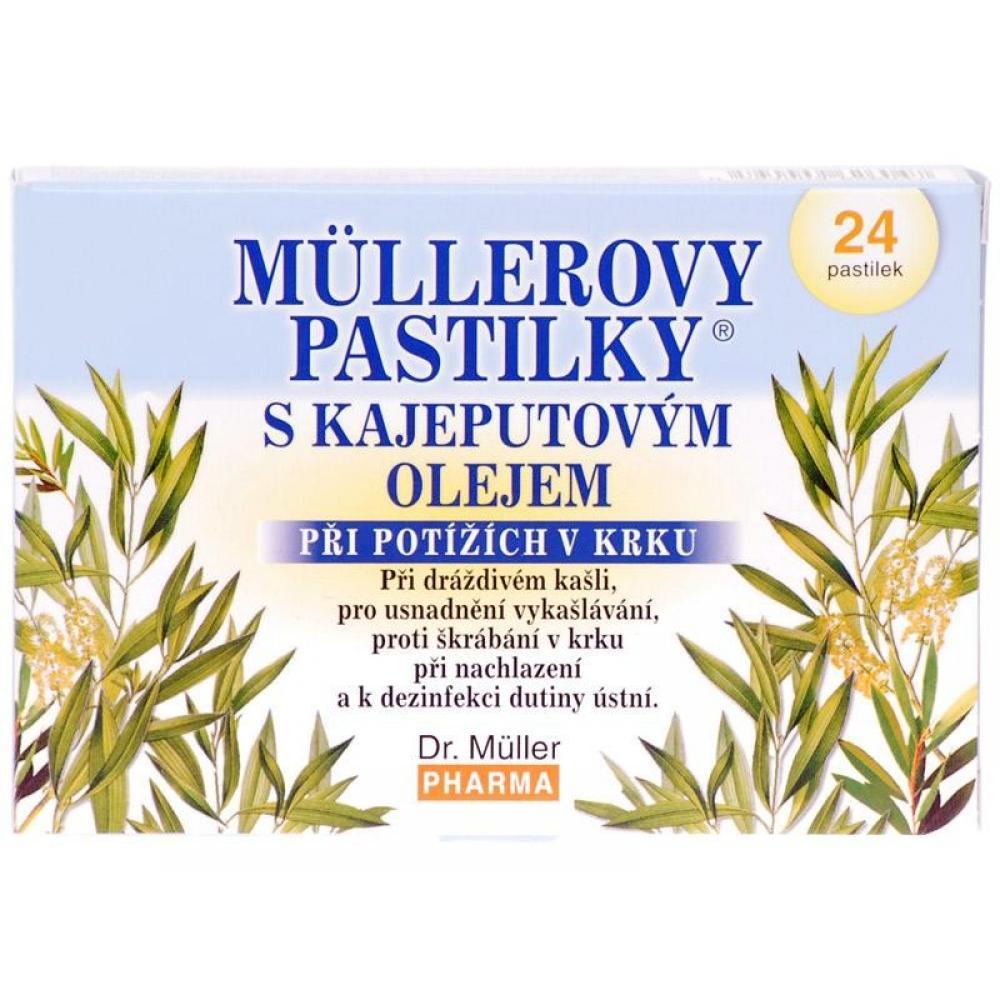 DR.MULLER Pastilky kajeputový olej 24 kusů