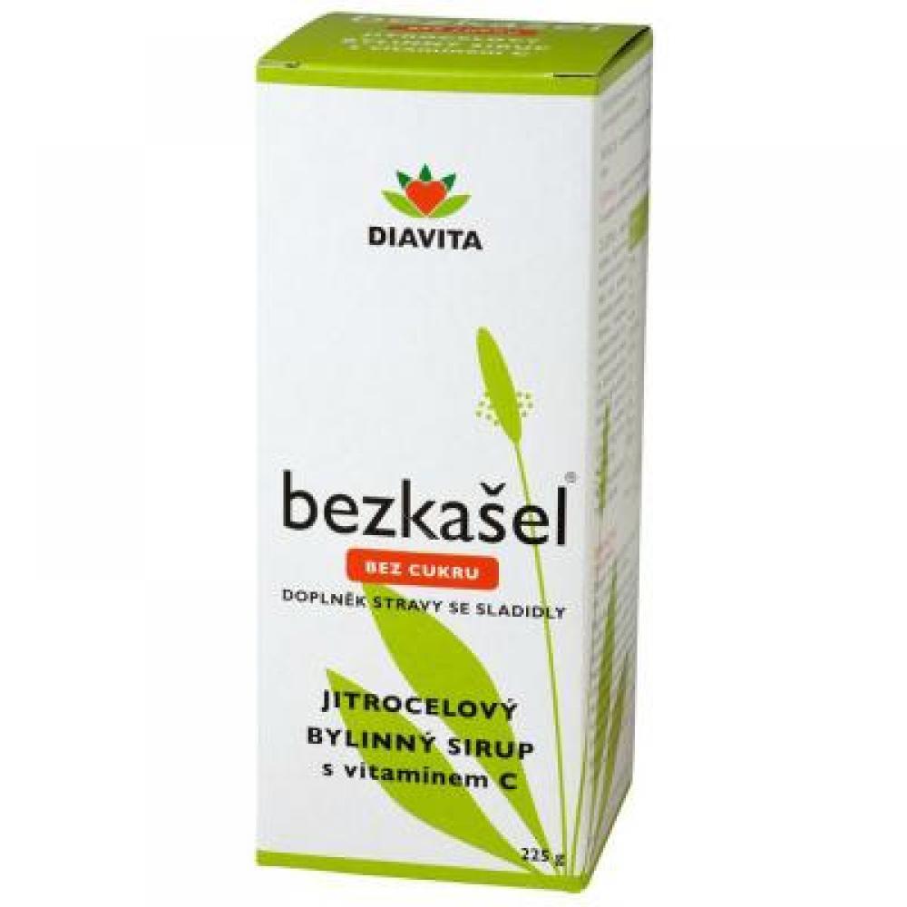 DIAVITA Bezkašel jitrocelový bylinný sirup bez cukru 225 g
