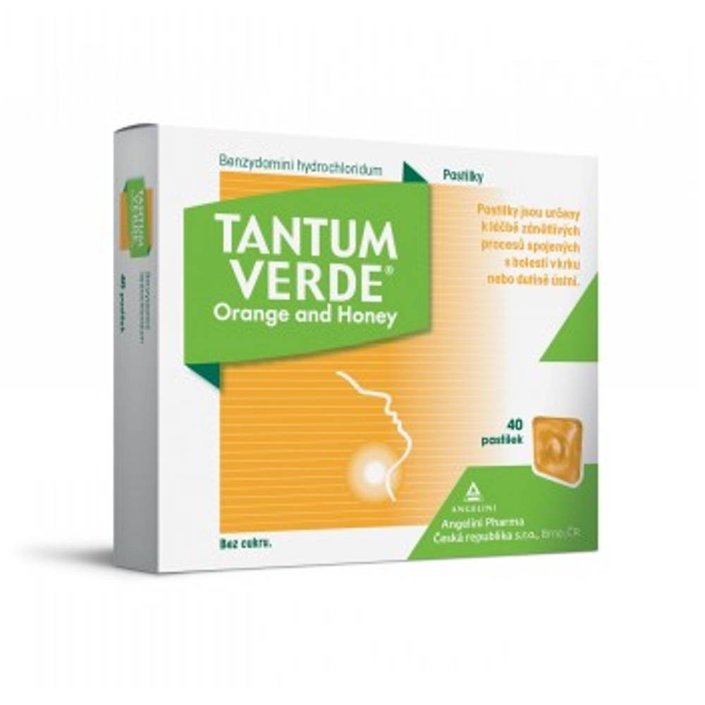 TANTUM VERDE Orange & honey 3 mg 40 pastilek