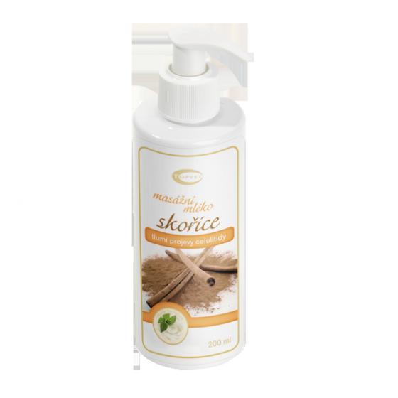 GREEN IDEA Skořicové masážní mléko 200ml