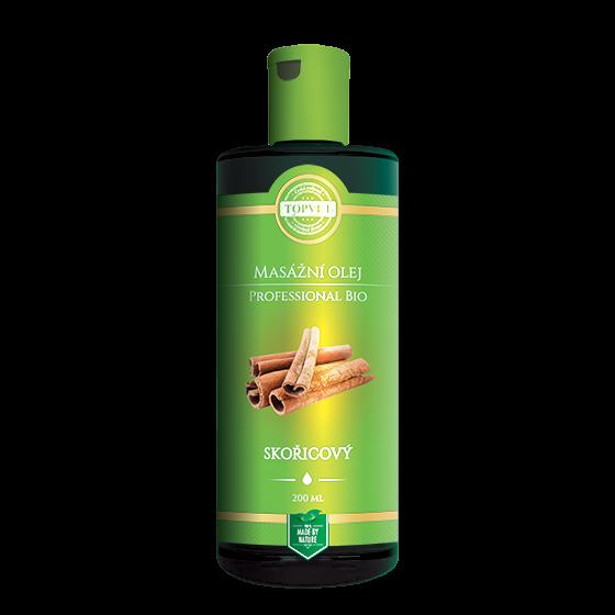 TOPVET BIO Skořicový masážní olej 200ml