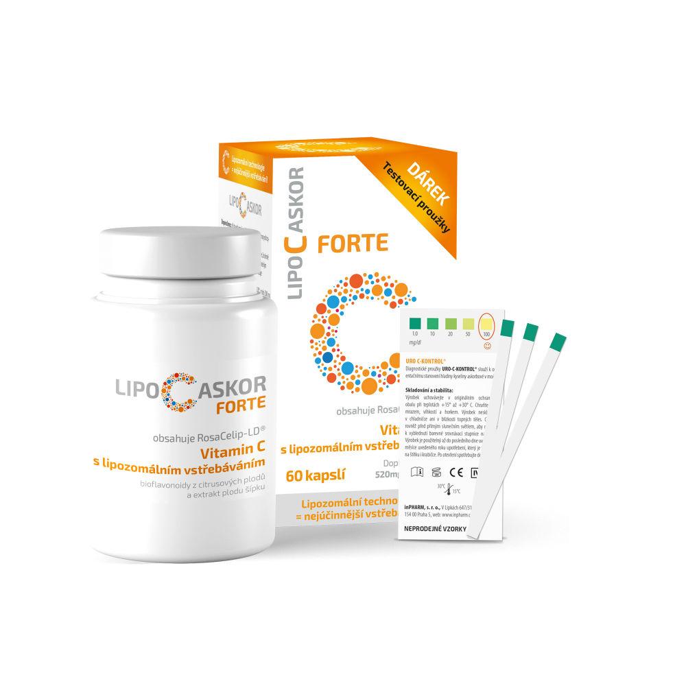 LIPO C ASKOR FORTE 120x520 mg vitamin C 60 kapslí