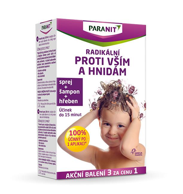 Altermed Paranit spray 60 ml + šampon 100 ml + hřeben dárková sada