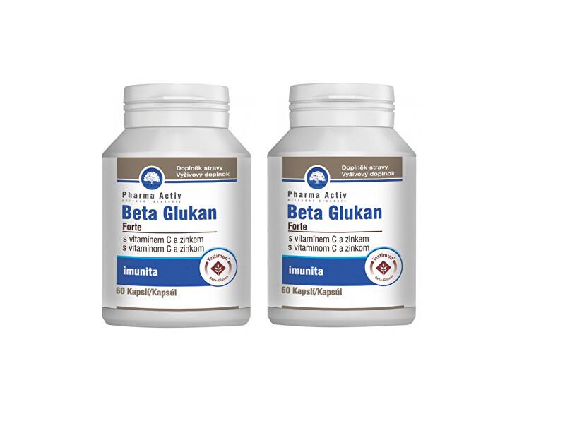 PHARMA ACTIV Beta Glukan Forte vitamín C a zinek 2 x 60 kapslí