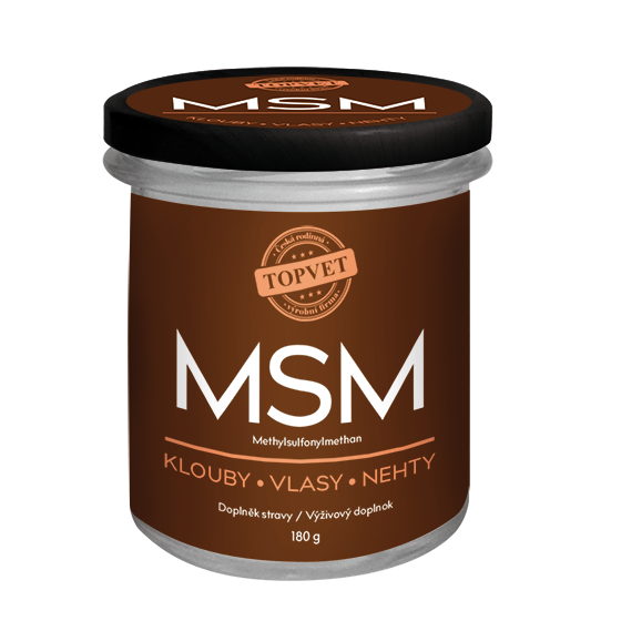 TOPVET MSM - Methylsulfonylmethan 180g