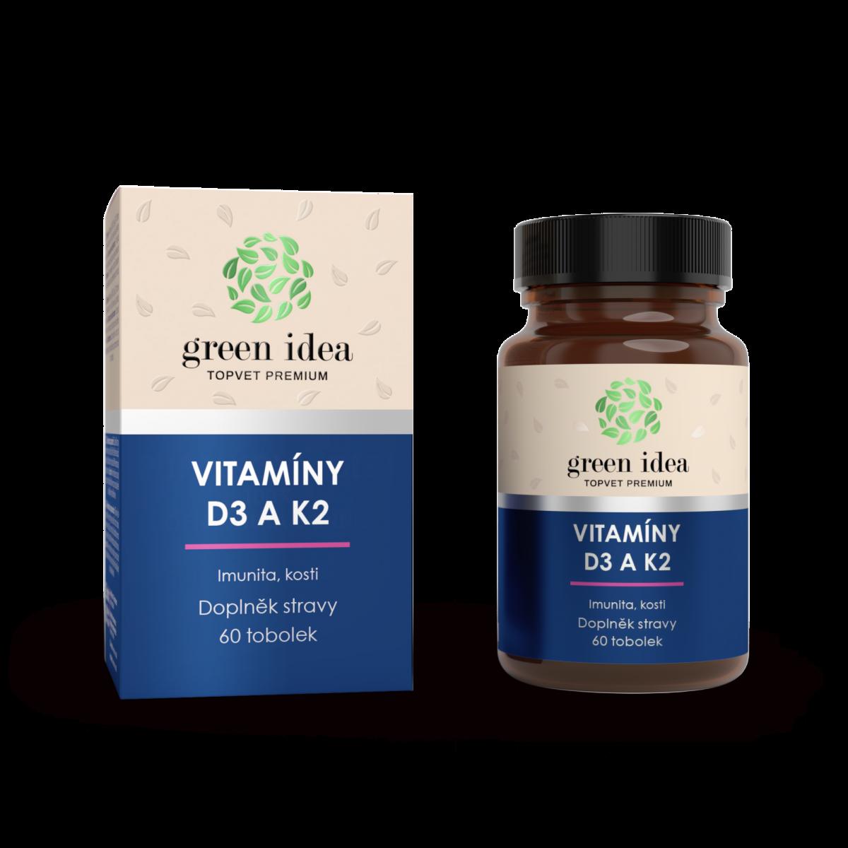 GREEN IDEA VITAMÍNY D3 a K2